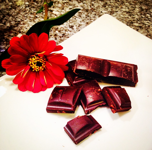 chocolate and flower