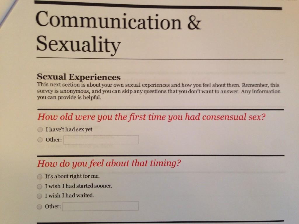 survey Communication & Sexuality