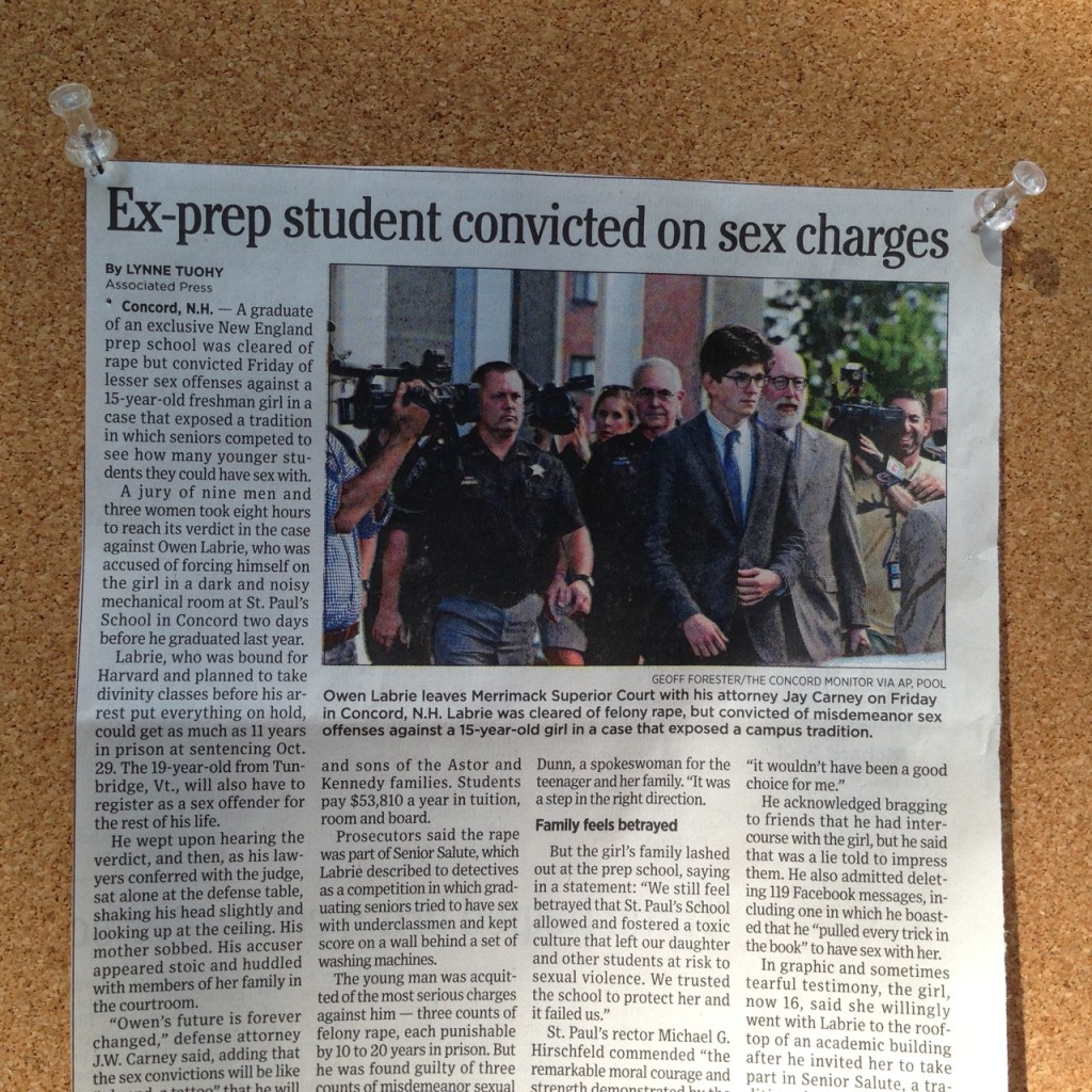 headline: ex prep student convicted