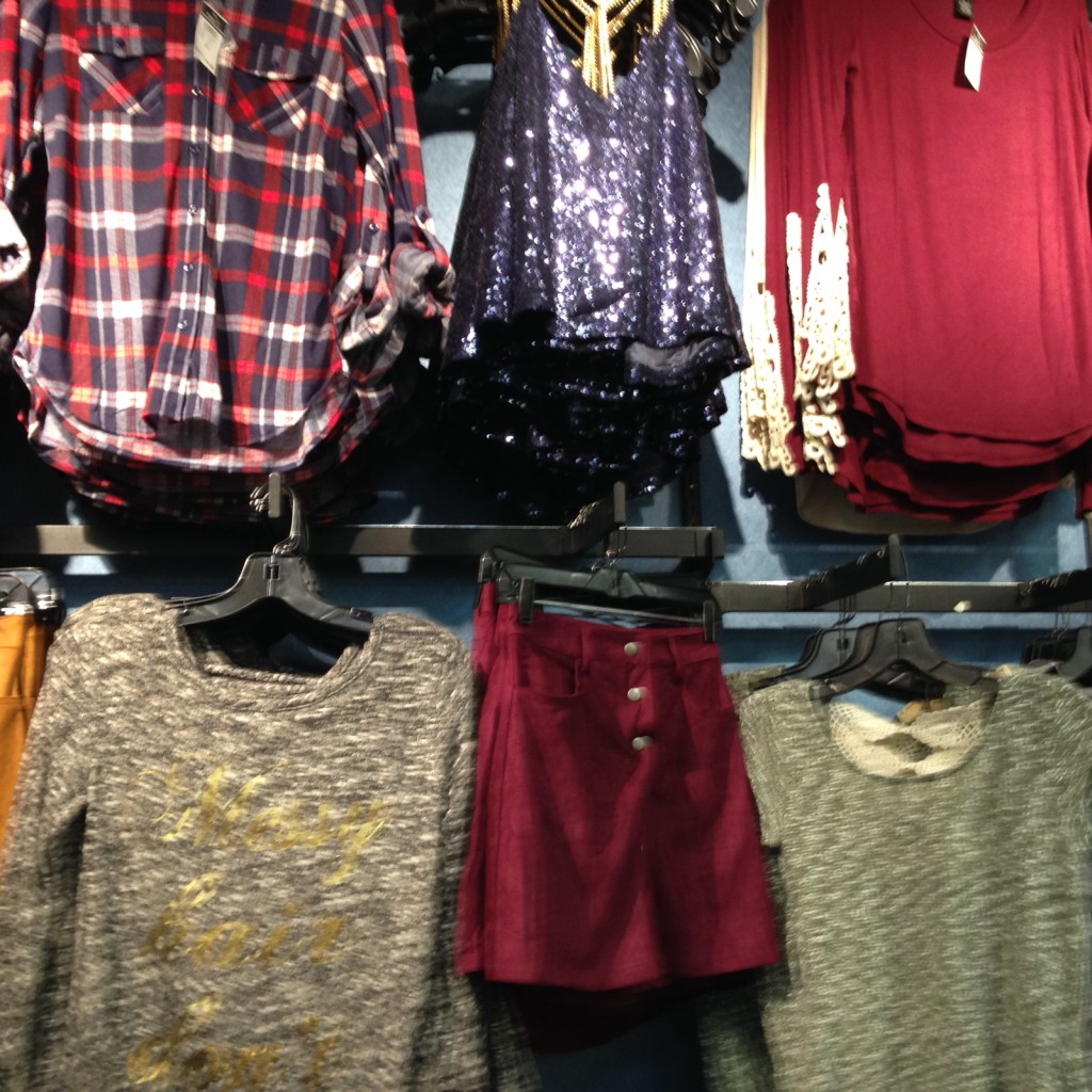 rack of teen clothes