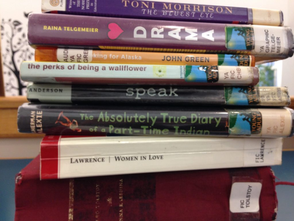stack of young adult books