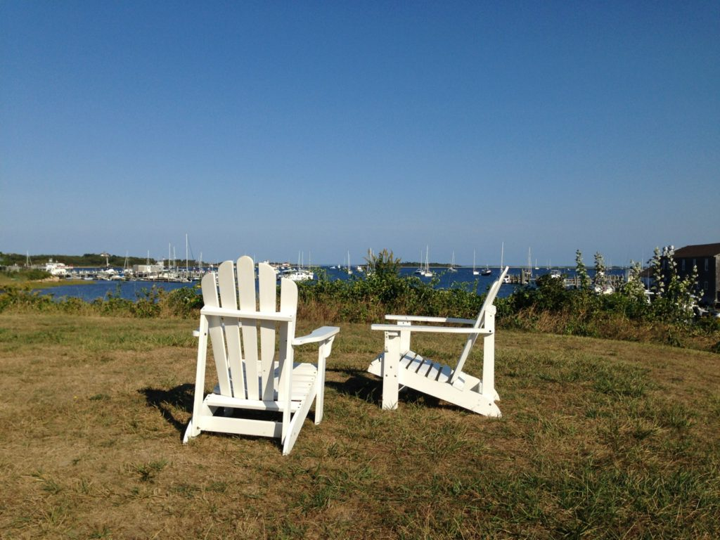 chairs overlooking harbor