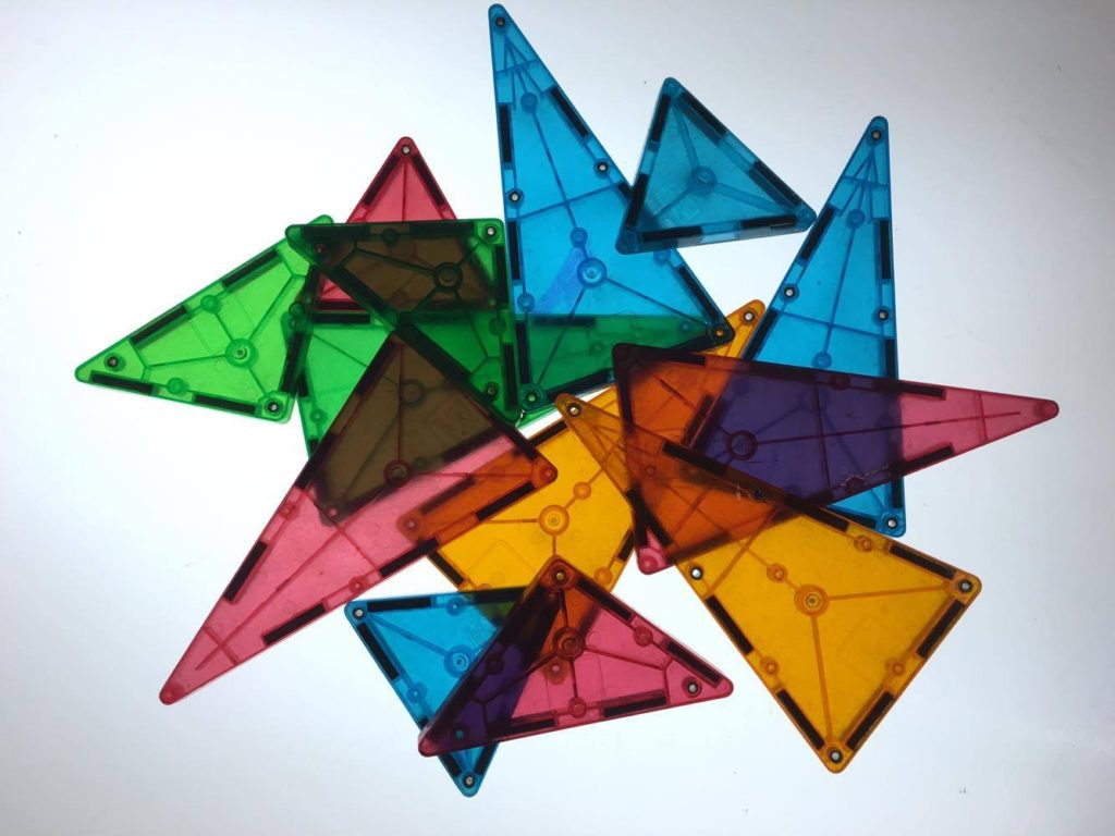 triangles on light table