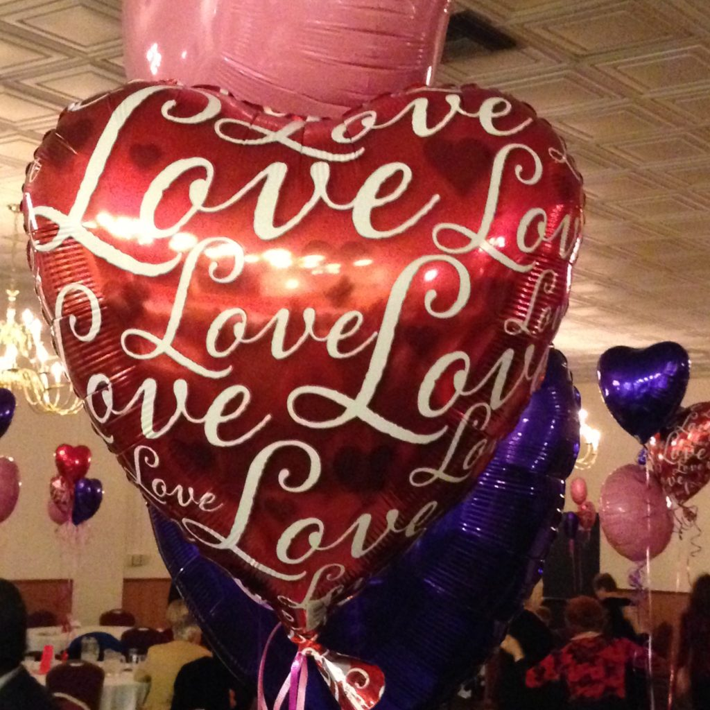 heart balloon with love