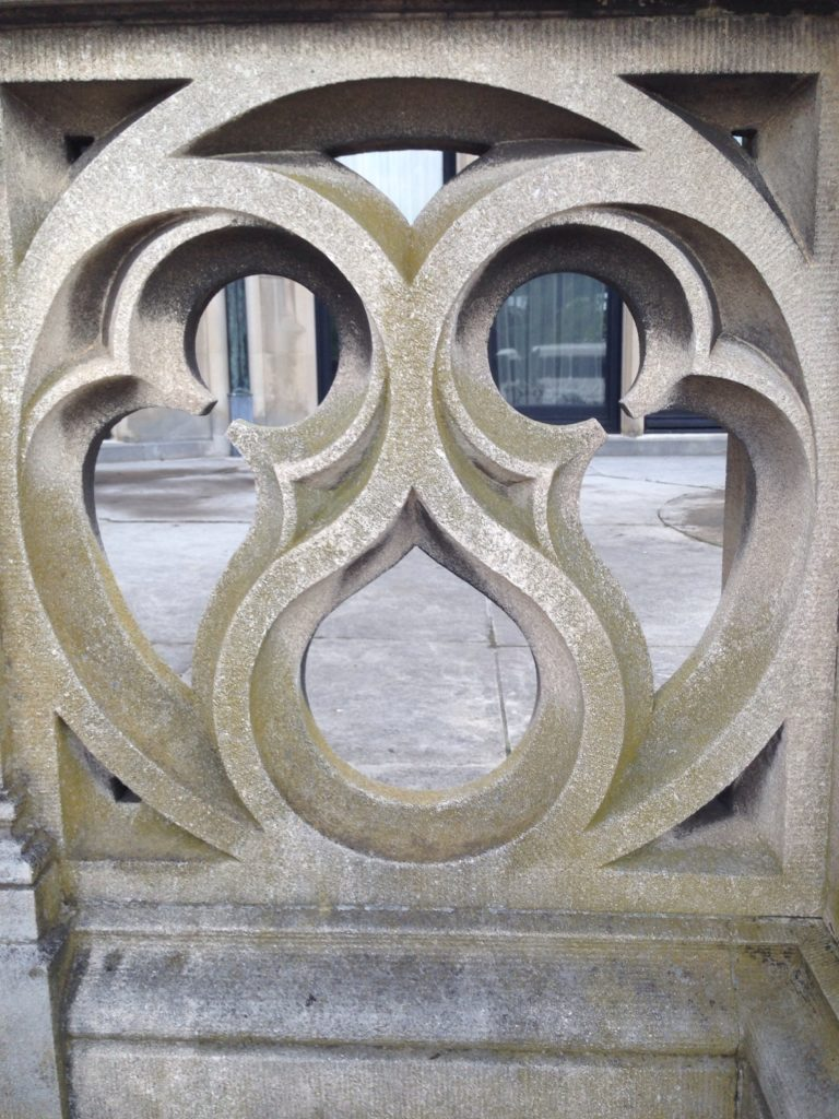 carved stone w 3 sections